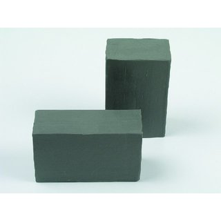 Industrie Knete graugrün, Blockform 1000 g